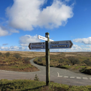 Exmoor sign post