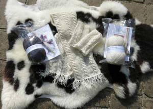 Huxtable Farm Jacob wool knitting kits