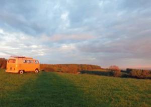 Campervan with a Devon view