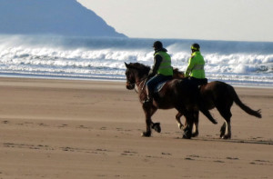Horse riding on Woolacombe beach