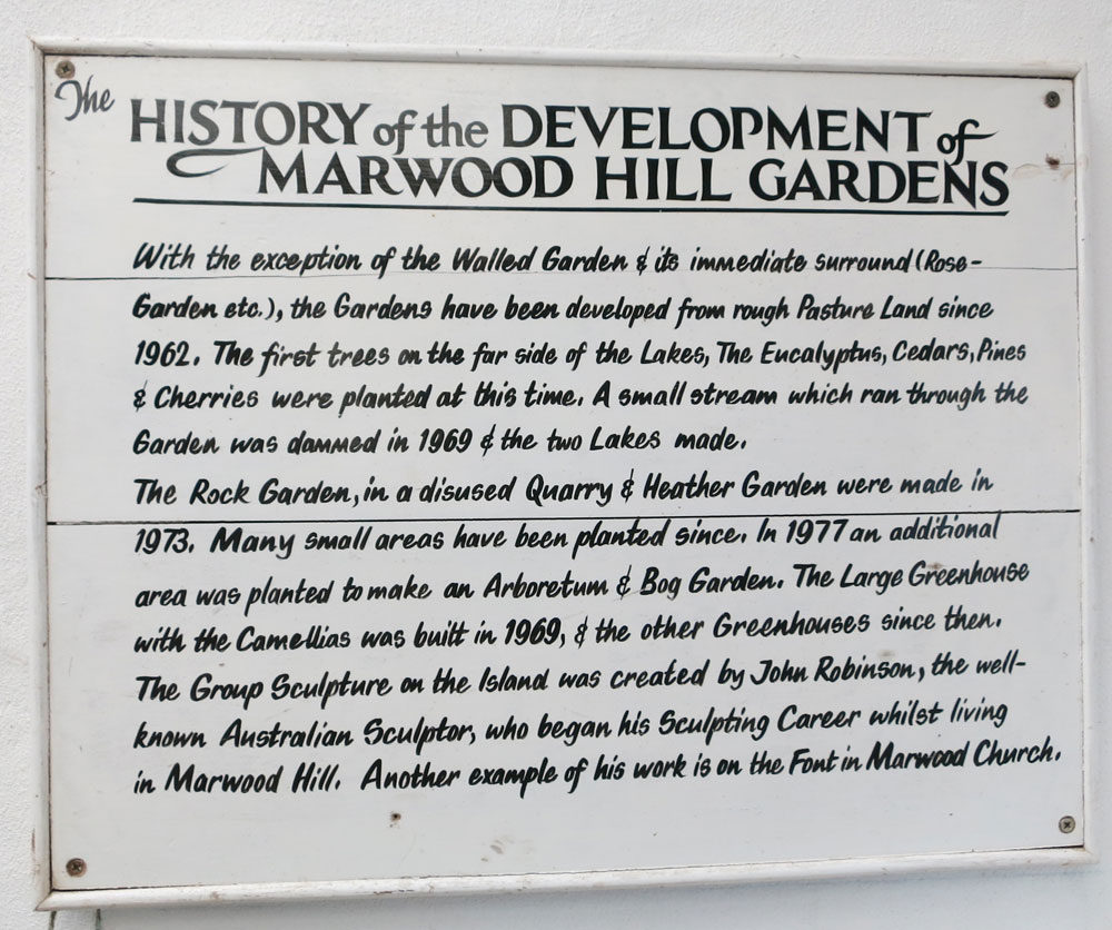 Marwood Hill Gardens History