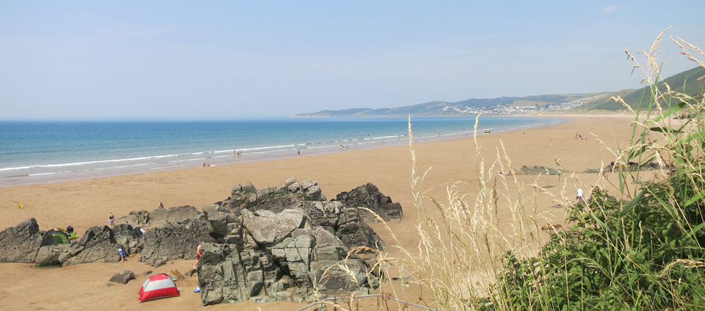 Putsborough to Woolacombe beach Miles of golden sands