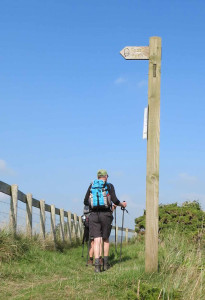 Walking the South West Coast Path near Crow Point Devon