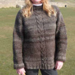 Huxtable Farm Jacob wool jumper