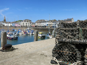 Ilfracombe harbour, fishing boats & Lobster pots