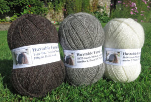 Huxtable Farm Jacob sheep wool yarn