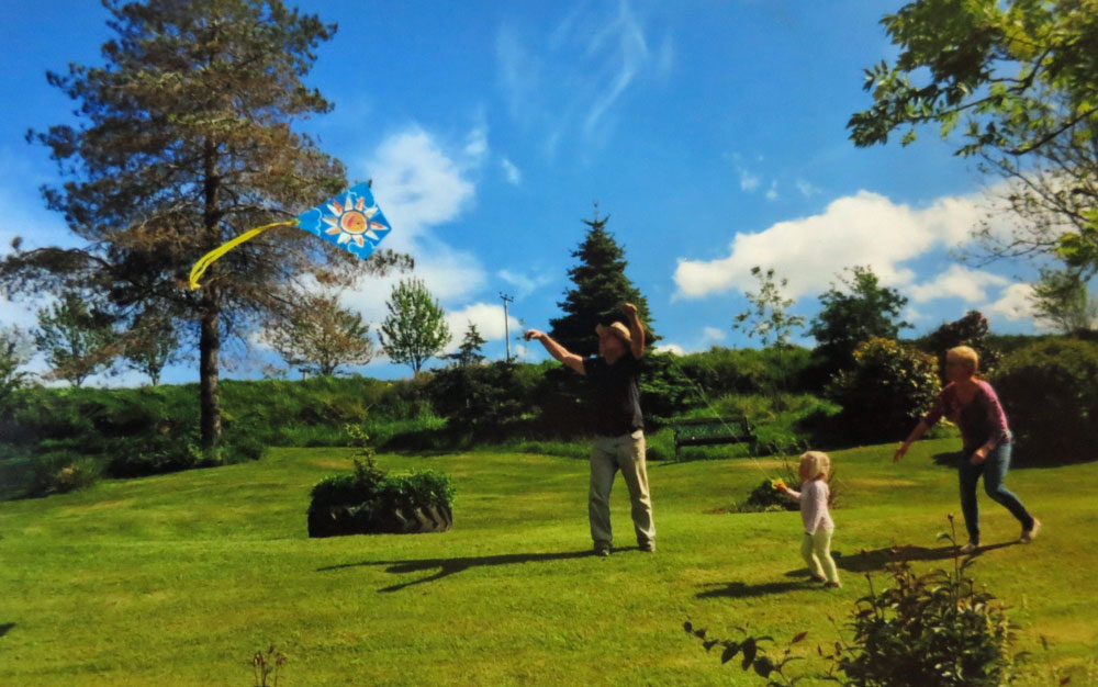 Fly a kite at Huxtable farm B&B North Devon