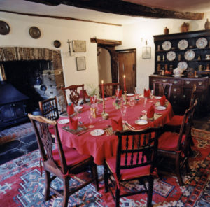 Huxtable Farm B&B dinning room