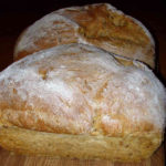 Homemade bread at Huxtable Farm B&B