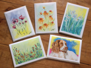 Cards painted by Jackie