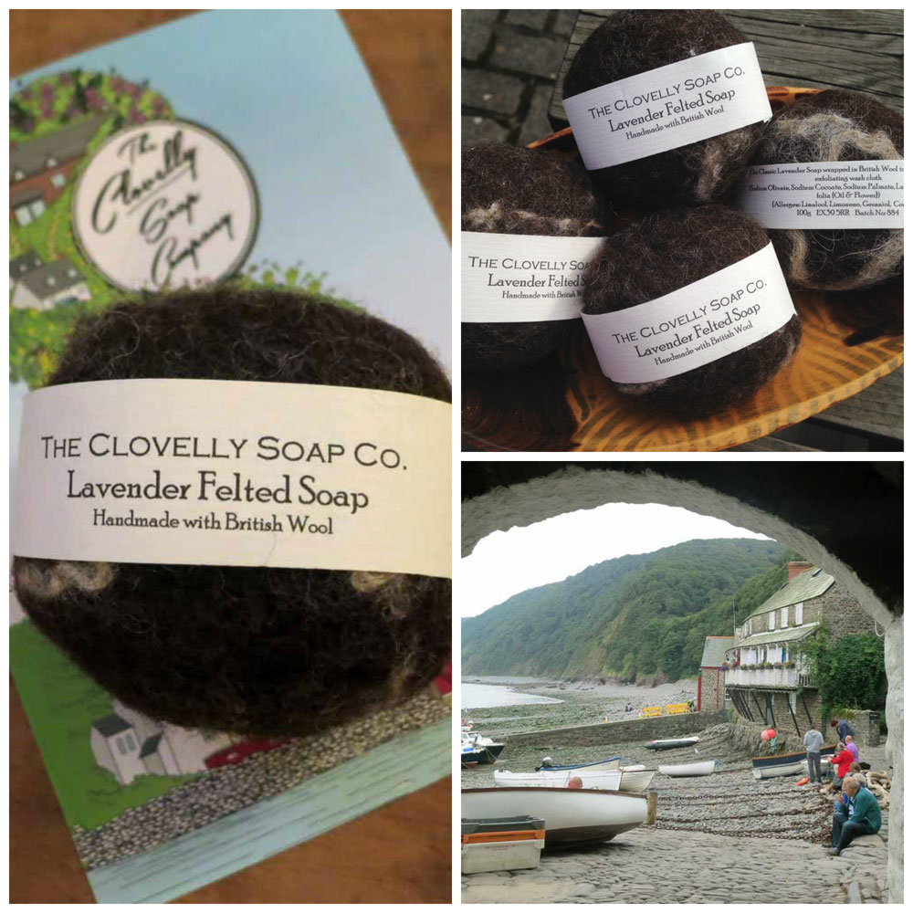 Clovelly Soap Company with Huxtable Farm Jacob wool