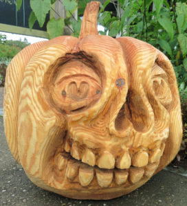Pumpkin Face at RHS Rosemoor Gardens