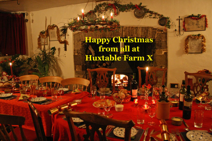 Happy Christmas from all T Huxtable Fran B&B Barnstaple Devon