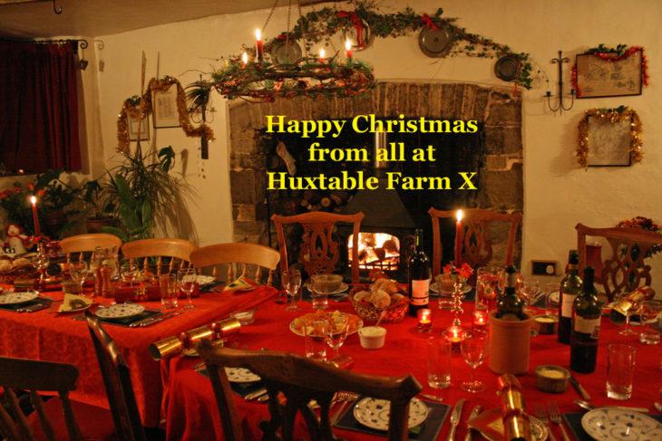 Happy Christmas from all T Huxtable Fran B&B Barnstaple Devon