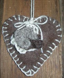 Jacob wool felted lavender bag - dark
