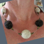 Huxtable Farm Jacob wool felted necklace