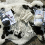 Huxtable Farm Jacob wool cable wrist warmers & scarf Knitting Kit