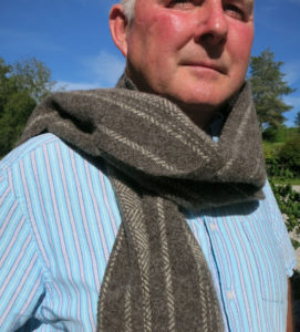 100% Huxtable farm Jacob wool scarf - dark