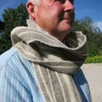 100% Huxtable Farm Jacob wool scarf - Light