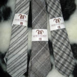 British Jacob sheep wool neck tie