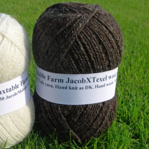 100gms Jacob X Texel/Alpaca, dark natural colour wool