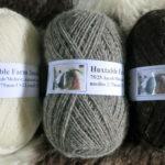100gms Jacob wool, 75/25 Jacob/Mohair, natural grey colour