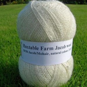 100gms Jacob wool, 50/50 Jacob/Mohair,
