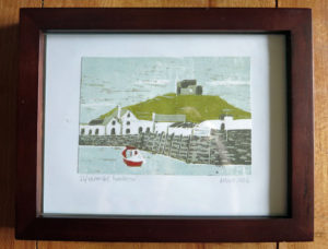 Ilfracombe Lino print by Annie Hart