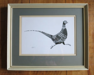 Collage pheasant print by Annie Hart