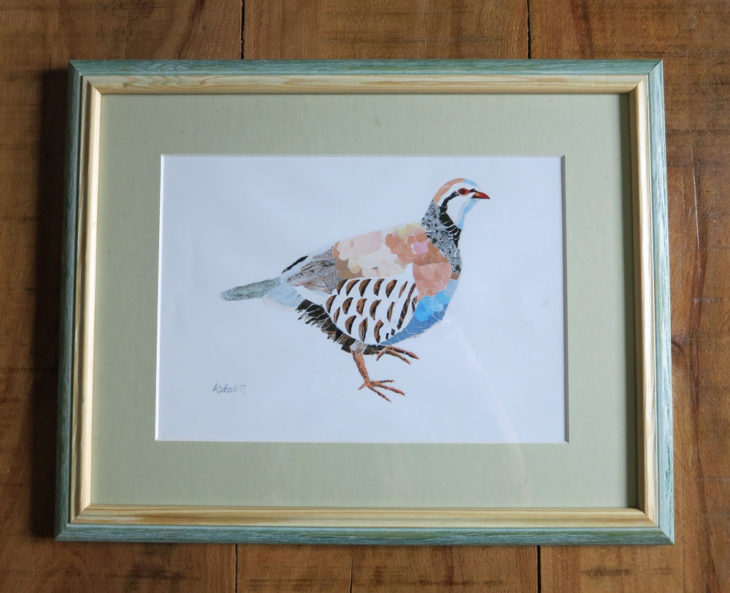 Anni Hart's Collage bird print by Annie Hart