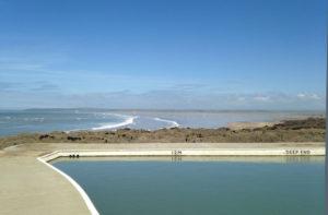 Go swimming in Westward Ho! sea pool