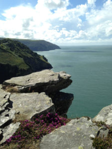 Valley of Rocks near Lynton, coastal view