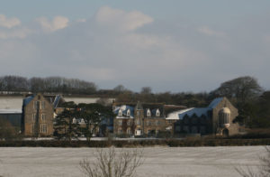 West Buckland School in the snow