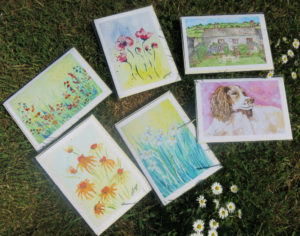 Water colour painting print Cards by Jackie
