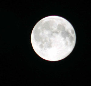 Moon seen from Exmoor Dark Sky Reserve