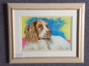 "Springer Spaniel - Print of acrylic painting by Jackie Payne £30 (8.25""X11"")"