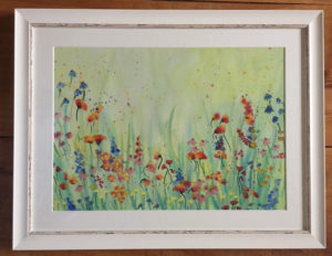 Wild Flower Meadow Water Colour Print