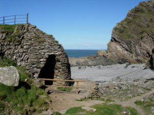 Heddens Mouth Lime Kiln on beach