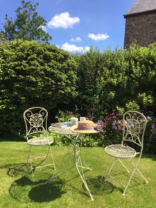 Relax in Huxtable Farm B&B's garden