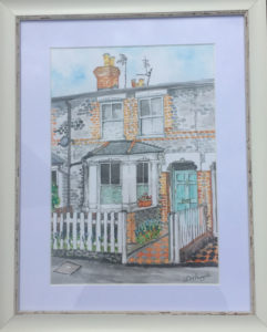 Water colour painting house 1