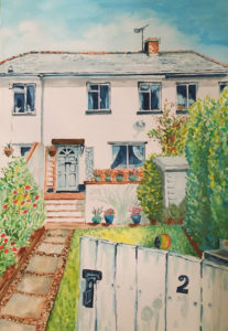 Water colour painting house 2