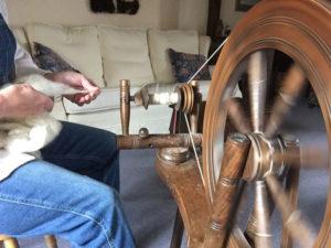 Spinning raw fleece