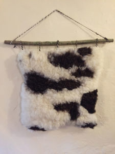 Felted Jacob sheepskin wall hanging B £65