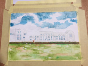 West Buckland School painting 1