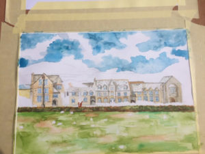 West Buckland School painting 3