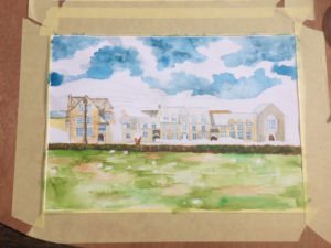 West Buckland School painting 2