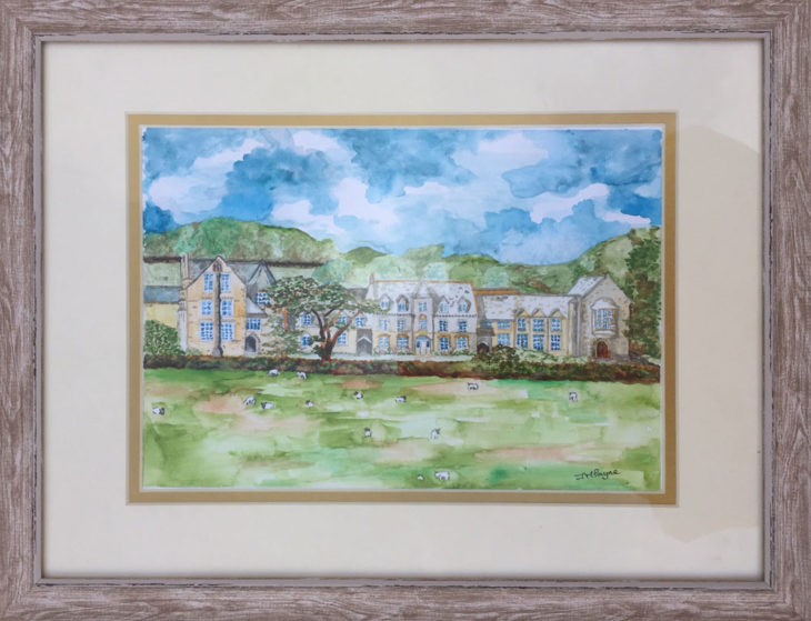 Painting of West Buckland School