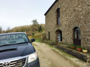 Parking outside Swallow Barn room