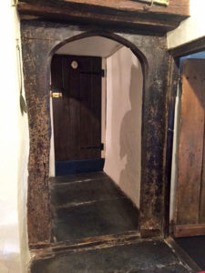Access from dining room to information room & Wool shop