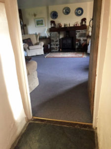 Access to living room from hall